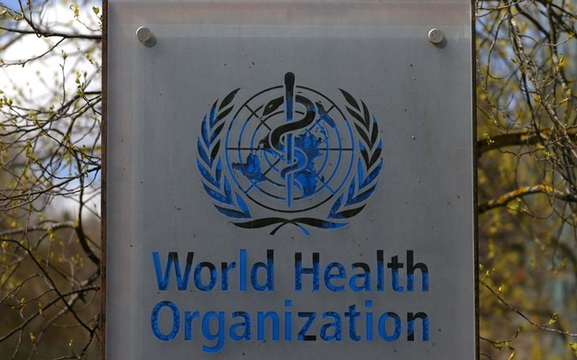 A logo is pictured outside a building of the World Health Organisation (WHO) during an executive board meeting on update on the coronavirus disease (COVID-19) outbreak, in Geneva, Switzerland, Apr 6, 2021. REUTERS/Denis Balibouse