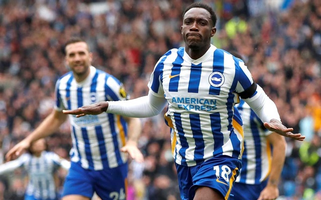 Football - Premier League - Brighton & Hove Albion v Leicester City - The American Express Community Stadium, Brighton, Britain - September 19, 2021 Brighton & Hove Albion's Danny Welbeck celebrates scoring their second goal Action Images via Reuters/Paul Childs