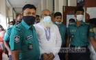 Police escort Abdul Malek, who has been accused of earning a substantial amount through graft, to a special tribunal in Dhaka on Monday, Sept 20, 2021. The tribunal sentenced him to 15 years in prison in an arms case.