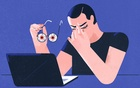 That gritty, itchy feeling in your eyes can arise from many causes, including too much screen time. (Gracia Lam/The New York Times)