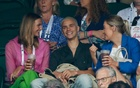 Romeo Beckham and his girlfriend Mia Regan in the stands on centre court. Tennis - Wimbledon - All England Lawn Tennis and Croquet Club, London, Britain - Jun 28, 2021 REUTERS