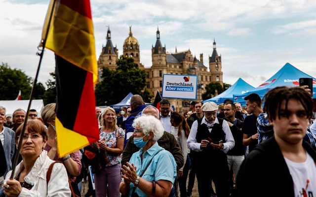 Supporters of the far-right Alternative for Germany party, or AfD, at a rally last month. The party's popularity has slipped since the last elections, but the AfD looks likely to stay in Parliament. EPA, via Shutterstock. The New York Times