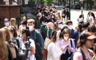 People queue outside a vaccination centre for young people and students at the Hunter Street Health Centre, amid the coronavirus disease (COVID-19) outbreak, in London, Britain, June 5, 2021. REUTERS/Henry Nicholls
