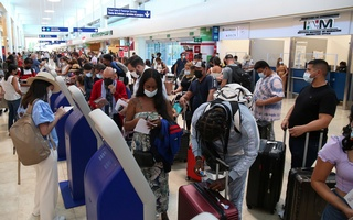 Over the past year, many European visitors have spent two weeks in Mexico in order to get into the United States. Above, a scene at the Cancún International Airport. REUTERS