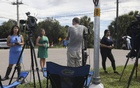 Journalists report from outside of T Mabry Carlton Jr Memorial Reserve in Venice, Fla, on Wednesday, Sept 22, 2021, where authorities are looking for Brian Laundrie, who is a person of interest in the homicide of Gabby Petito, a white woman. Major outlets have highlighted the case of Gabrielle Petito while often ignoring stories about women of colour who go missing. Eve Edelheit/The New York Times