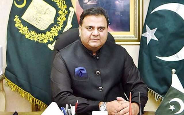 Pakistan Information Minister Fawad Chaudhry, along with Interior Minister Sheikh Rasheed Ahmad, addresses a news conference in Islamabad, Pakistan Sept 22, 2021. REUTERS