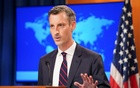 US State Department spokesman Ned Price holds a press briefing on Afghanistan at the State Department in Washington, US, August 16, 2021. REUTERS/Kevin Lamarque