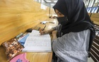 A student studies at Dhaka University Central Library on the day of its reopening on Sunday, Sept 26, 2021 after an 18-month closure due to the coronavirus pandemic. Photo: Asif Mahmud Ove