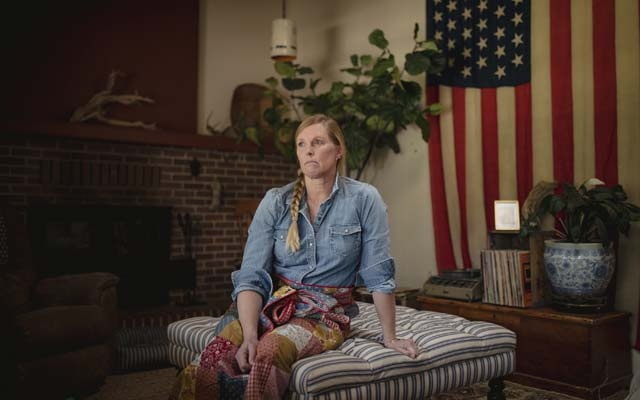 Crissy Perham at her home in Rociada, NM, on Sept 24, 2021. With a Supreme Court ruling in the balance, an Olympic medalist joined a group of more than 500 athletes supporting reproductive rights. Adria Malcolm/The New York Times
