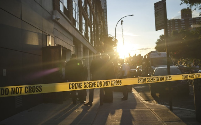 Police at the scene of a homicide in Manhattan on Tuesday, July 14, 2020. The United States experienced its biggest one-year increase on record in murders in 2020, according to new figures released Monday, Sept 27, 2021, by the FBI, with some cities hitting record highs. (John Taggart/The New York Times)