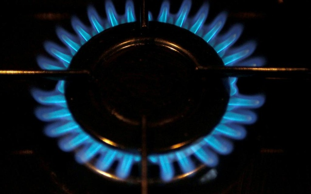 A gas burner is pictured on a cooker in a private home in Bordeaux, southwestern France, December 13, 2012. Reuters