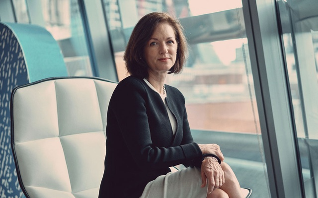 """Margaret Franklin, chief executive of the CFA Institute, in London, Sept. 24, 2021. """"People have had, in many cases, their lives upturned — we know they're working from home virtually, there's a fatigue setting in,"""" Franklin said of the hardships face by chartered financial analyst test takers. (Tom Jamieson/The New York Times)"""