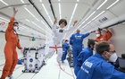 A Barbie doll version of an Italian astronaut Samantha Cristoforetti is seen during a zero-gravity flight with members of the European Space Agency in an unknown location. Courtesy of ESA/Simone Marocchi/Handout via REUTERS