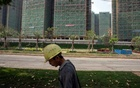 An Evergrande construction site in Dongguan, China, on Tuesday, Sept. 28, 2021. The giant developer is on the verge of collapse. (Gilles Sabrié/The New York Times)