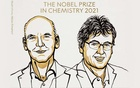 Benjamin List and David MacMillan, who won the 2021 Nobel Prize in Chemistry for the development of asymmetric organocatalysis, which can be used to more efficiently construct anything from new pharmaceuticals to molecules that can capture light in solar cells. NOBEL PRIZE OUTREACH