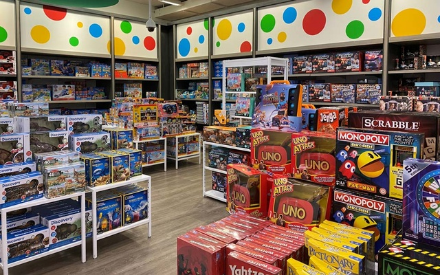 Toys made by Mattel, Hasbro and others are seen at a Macy's store in New York, US, September 16, 2021. REUTER