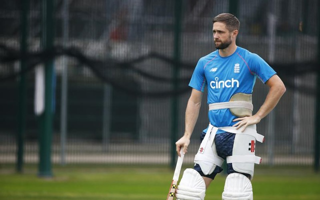 Cricket - England Nets - Emirates Old Trafford, Manchester, Britain- September 9, 2021 England's Chris Woakes during nets Action Images via Reuters/Jason Cairnduff