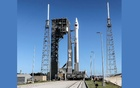 NASA's Lucy spacecraft, atop a United Launch Alliance Atlas 5 rocket for a mission to study the Trojan asteroids in the outer solar system, stands at Pad-41 in preparation for launch at Cape Canaveral Space Force Station in Cape Canaveral, Florida, US October 15, 2021. REUTERS