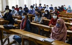 In-person classes resumed at Dhaka University on Sunday, Oct 17, 2021, after a year and a half due to the pandemic. Students at Kala Bhaban seemed delighted and eager to return. Photo: Kazi Salahuddin Razu
