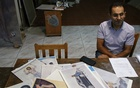 George Gavriel is pictured during an interview with Reuters in his home studio in Kokkinotrimithia, Cyprus, September 22, 2021. REUTERS/Yiannis Kourtoglou