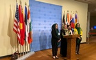Left to right: Former Afghan diplomat Asila Wardak, former Afghan politician and peace negotiator Fawzia Koofi, Afghan journalist Anisa Shaheed and former Afghan politician, Naheed Fareed speak to reporters outside the UN Security Council, in New York, US October 21, 2021. REUTERS