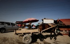An Afghan boy drives a cart on the outskirts of Kabul, Afghanistan Oct 23, 2021. REUTERS/Zohra Bensemra