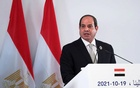 Egypt's President Abdel Fattah al-Sisi speaks during a joint statement with Greek Prime Minister Kyriakos Mitsotakis, and Cypriot President Nicos Anastasiades after a trilateral summit between Greece, Cyprus and Egypt, in Athens, Greece, October 19, 2021 REUTERS/Costas Baltas