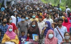 Students leave after Chattogram University's admission tests on Wednesday, Oct 27, 2021.
